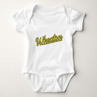 Wheaton neon light in yellow baby bodysuit