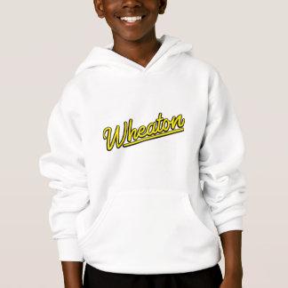 Wheaton neon light in yellow hoodie