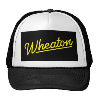 Wheaton neon light in yellow trucker hat