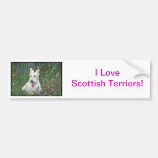 Wheaton Scottish Terrier Car Bumper Sticker