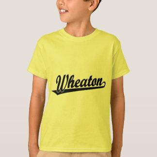 Wheaton script logo in black T-Shirt
