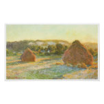 Wheatstacks (finales del verano), 1890-91 poster