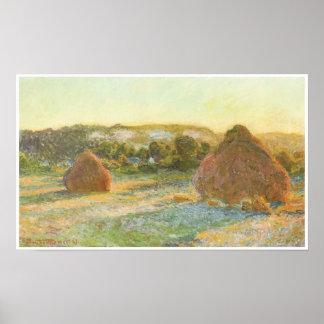 Wheatstacks (finales del verano), 1890-91 póster