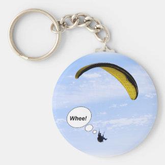 ¡Whee! Paragliding en el llavero de las nubes