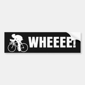 WHEEE Bicycle Car Bumper Sticker