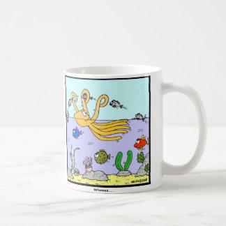 Wheeee Octopus cartoon Coffee Mug