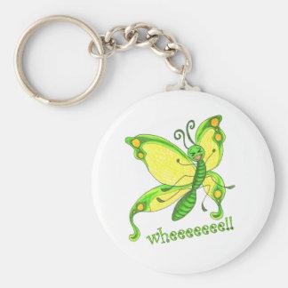 Wheeeee! I'm a Butterfly!! Basic Round Button Keychain