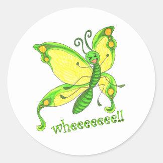 ¡Wheeeee! ¡Soy una mariposa!! Pegatina Redonda