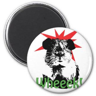 ¡wheeek! imán redondo 5 cm