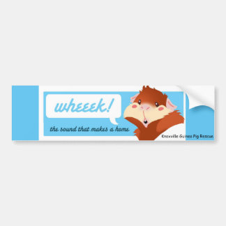 """""""Wheek!"""" Guinea Pig Bumper Sticker Car Bumper Sticker"""