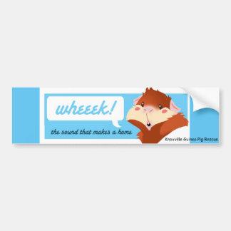 """""""Wheek!"""" Pegatina para el parachoques del Pegatina Para Auto"""