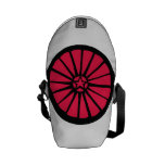 Wheel Backpack Red Courier Bags
