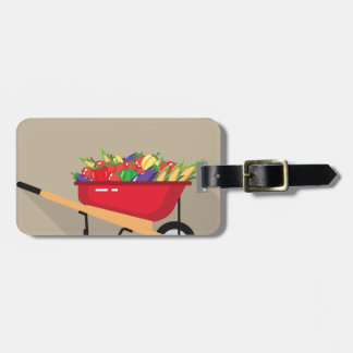 Wheel Barrow filled with Vegetables Bag Tag