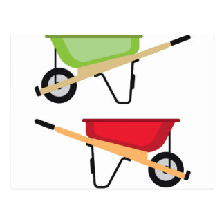 Wheel barrow postcard