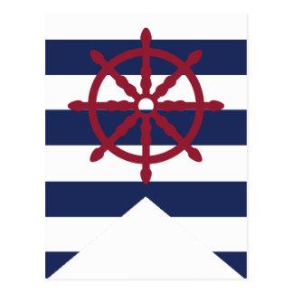 Wheel Bunting Flag de la fiesta de bienvenida al b Tarjetas Postales