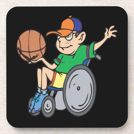 Wheel Chair Basketball Beverage Coasters
