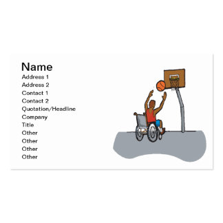 Wheel Chair Basketball Business Cards
