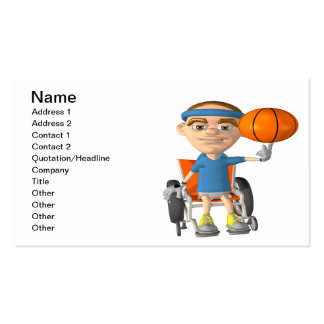 Wheel Chair Basketball Business Card Template