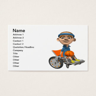 Wheel Chair Basketball Business Card