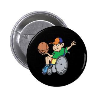 Wheel Chair Basketball Buttons