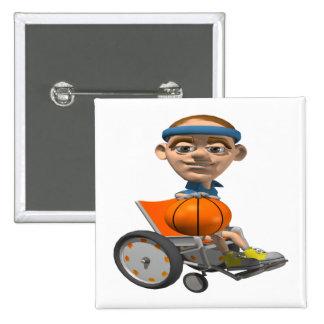Wheel Chair Basketball Pinback Button