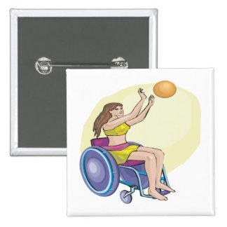 Wheel Chair Basketball Pins