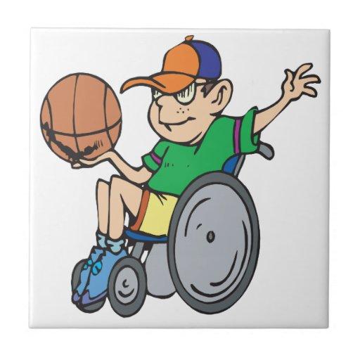 Wheel Chair Basketball Ceramic Tiles