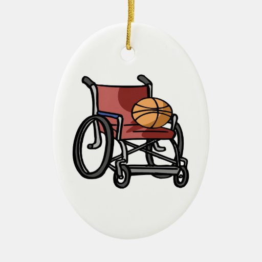 Wheel Chair Basketball Christmas Tree Ornament
