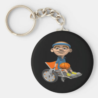 Wheel Chair Basketball Keychain