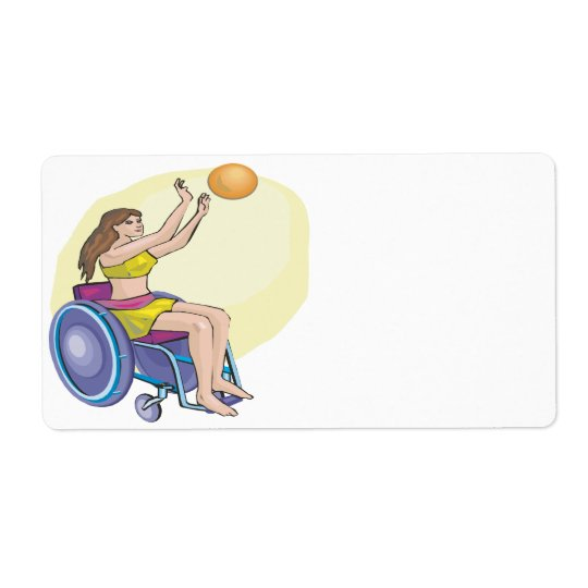 Wheel Chair Basketball Label