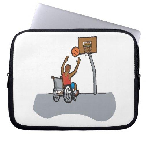 Wheel Chair Basketball Laptop Sleeves