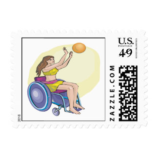 Wheel Chair Basketball Postage