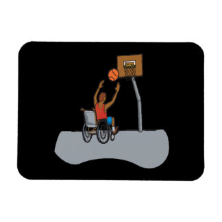 Wheel Chair Basketball Rectangular Photo Magnet