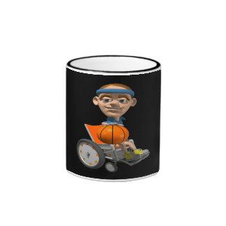 Wheel Chair Basketball Ringer Coffee Mug