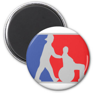 wheel chair icon 2 inch round magnet
