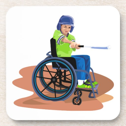 Wheel Chair Lefty.png Beverage Coaster