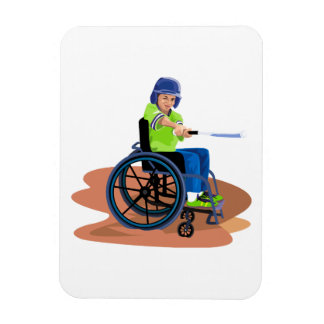 Wheel Chair Lefty.png Rectangular Photo Magnet