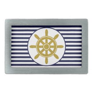 Wheel de capitán hebillas cinturon rectangulares