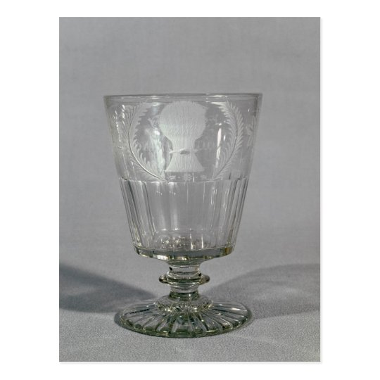 Wheel-engraved goblet, c.1800-25 postcard