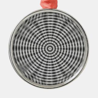 Wheel Motif 2 Round Metal Christmas Ornament