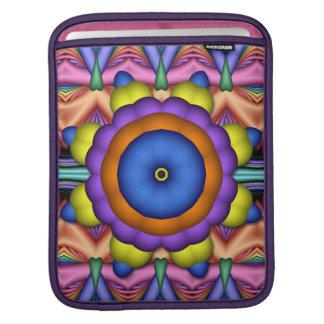 Wheel of adventure, artistic fractal iPad sleeve