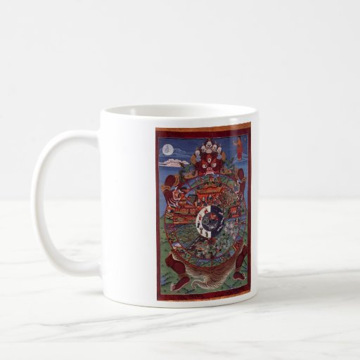 wheel of becoming classic white coffee mug
