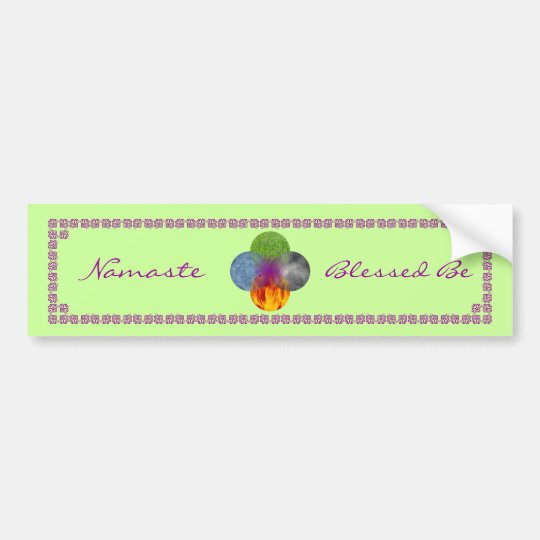 Wheel of Being - Green Bumper Sticker