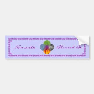 Wheel of Being - Purple Bumper Sticker