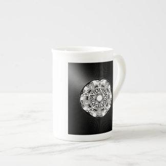 'Wheel of Black Sunshine' Tea Cup