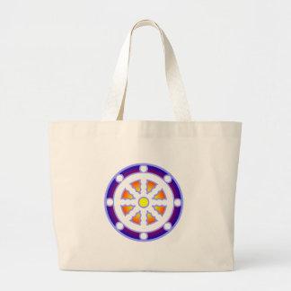 Wheel of Dharma Canvas Bags