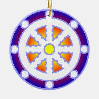 Wheel of Dharma Ceramic Ornament