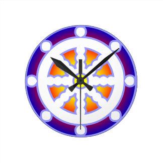 Wheel of Dharma Round Wall Clock