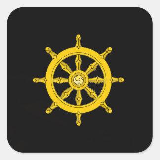 Wheel of Dharma Sticker - Black