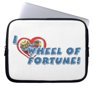 Wheel of Fortune Lover's laptop sleeves
